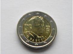 Euro mince Itálie 100 let od úmrtí Giovanniho Pascoli 2012 UNC