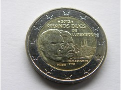 Euro mince - LUCEMBURSKO -Uctívá 100. výročí korunovace velkovévodkyně Marie-Adeleide UNC 2012