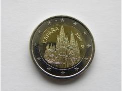 Euro mince - ŠPANĚLSKO - katedrála v Burgosu UNC 2012