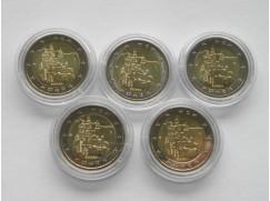 Euro mince - Německo - Zámek Neuschwanstein 5 ks UNC 2012
