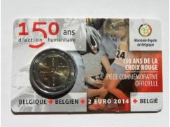 2 euro mince sběratelské BELGIE 2 Červený kříž , 2014 UNC