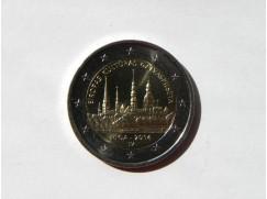 2 euro mince sběratelské LOTYŠSKO Riga 2014 UNC