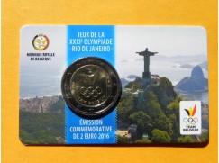 2 euro mince sběratelské Belgie 2016 - LOH v Rio de Janeiro   UNC