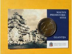 2 euro mince sběratelské Malta 2016 - Ggantija - karta