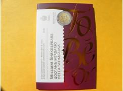 2 euro mince sběratelské San Marino 2016 -William Shakespeare