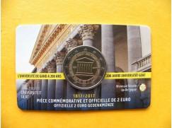 2 euro mince sběratelské Belgie 2017 - Univerzita v Gentu FR - UNC