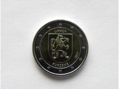 2 euro mince sběratelské Lotyšsko 2017 UNC - Courland - zv.r.