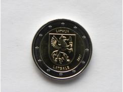 2 euro mince sběratelské Lotyšsko 2017 UNC - Latgale - zv.r.