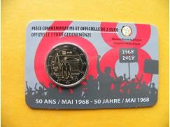 2 euro mince sběratelské Belgie 2018 - Květen 1968 - UNC