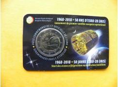 2 euro mince sběratelské Belgie 2018 - satelit - UNC
