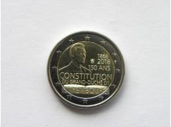 2 euro mince sběratelské Lucembursko ústava 2018 - z ruličky - UNC