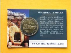 2 euro mince sběratelské Malta 2018 -Mnajdra- BU karta