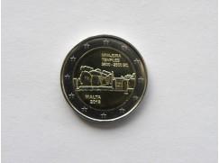 2 euro mince sběratelské Malta 2018 -Mnajdra - z ruličky - UNC
