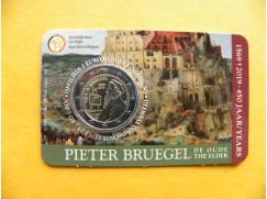 2 euro mince sběratelské Belgie 2019 - Bruegel FR - karta