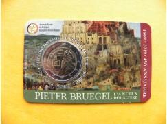 2 euro mince sběratelské Belgie 2019 - Bruegel NL - karta