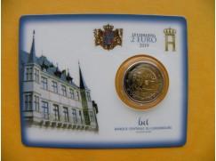 2 euro mince sběratelské Lucembursko 2 2019 - karta