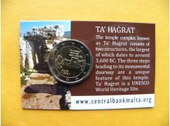 2 euro mince sběratelské Malta 2019 -Hagrat -karta