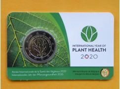 2 euro mince sběratelské Belgie 2020 -Rostliny FR - karta