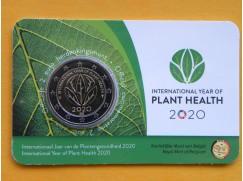 2 euro mince sběratelské Belgie 2020 -Rostliny NL - karta