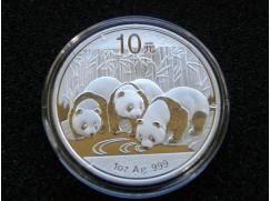 Stříbrná mince China Panda 1 OZ 2013