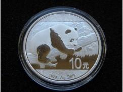 Stříbrná mince China Panda 1 OZ 2016