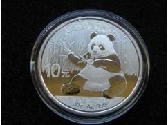 Stříbrná mince China Panda - 30g - 2017