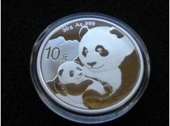 Stříbrná mince China Panda - 30g - 2019