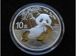 Stříbrná mince China Panda - 30g - 2020