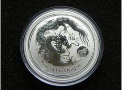 Stříbrná mince Lunar Dragon  Lion Privy Mark  2012 1 OZ
