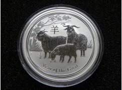 Stříbrná mince Lunar II. Year of the Goat (rok Kozy) 1 OZ 2015