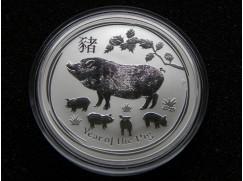 Stříbrná mince Lunar II. Year of the Pig (rok Vepře) 1 OZ 2019