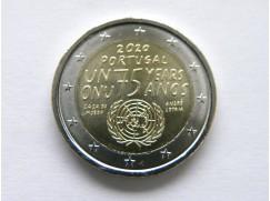 2 euro mince sběratelské Portugalsko 2020 - 75 let od vzniku OSN - UNC