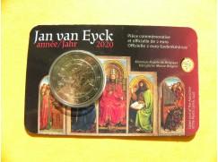 2 euro mince sběratelské Belgie 2020 - Eyck - UNC -karta