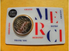 2 euro mince sběratelské Francie 2020 -Lékařství Merci - UNC -karta