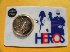 2 euro mince sběratelské Francie 2020 -Lékařství Heros - UNC -karta