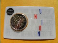 2 euro mince sběratelské Francie 2020 -Lékařství Union - UNC -karta