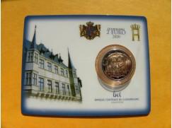 2 euro mince sběratelské Lucembursko 2020 - princ Jindřich - UNC - BU karta