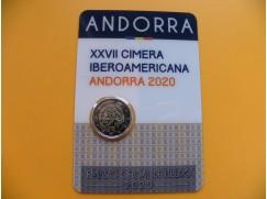 2 euro mince sběratelské Andora 2020 -Summit BU