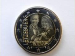 2 euro mince sběratelské Lucembursko 2020 - Narození knížete Karla Lucemburského - UNC - Foto