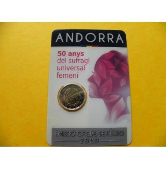 2 euro mince sběratelské Andora 2020 - Ženy BU