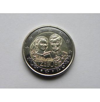 2 euro mince sběratelské Lucembursko 2021 - svatba reliéf - UNC