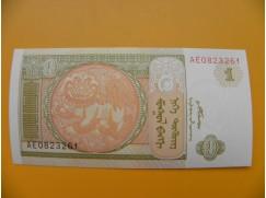 bankovka 1 mongolský tugrik/2008