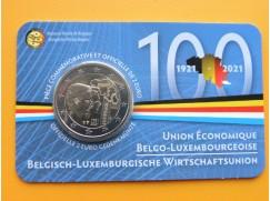 2 euro mince sběratelské Belgie 2021 - Unie - UNC