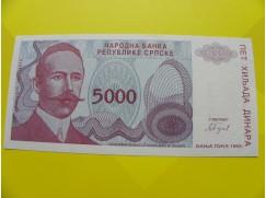 bankovka 5000 dinárů - série A