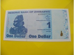 bankovka 1 Zimbabwský dolar - série AA