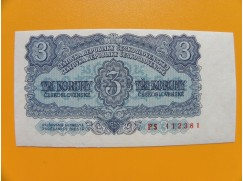 3.- Kčs/1953   český tisk série  PS