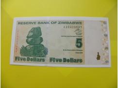 bankovka 5 Zimbabwských dolarů - série AA