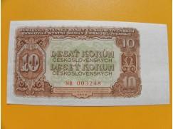 10.- Kčs/1953   český tisk série NR