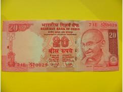 bankovka 20 rupií - série J