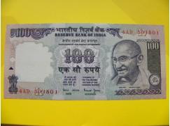 bankovka 100 rupií - série AD